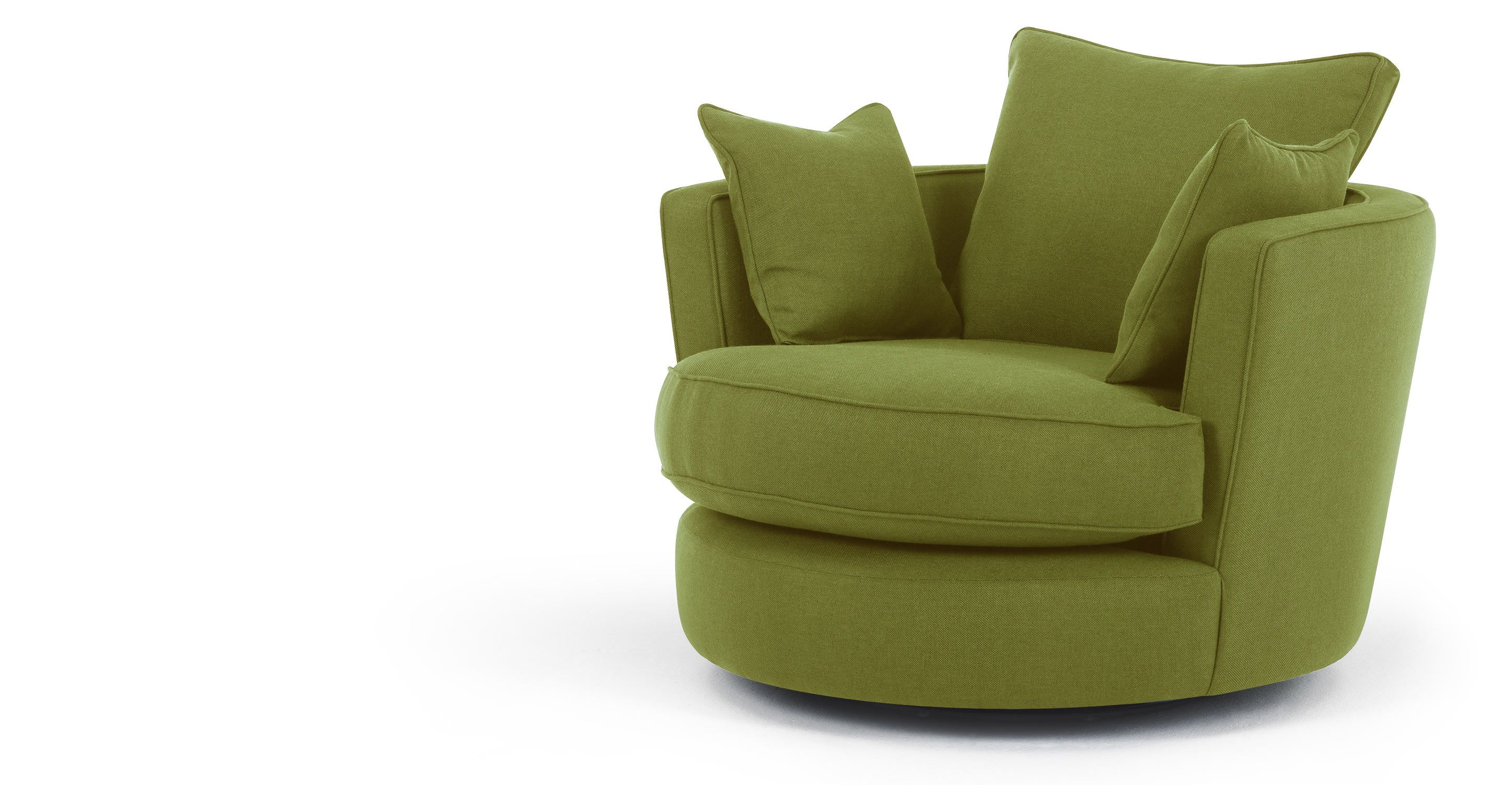 Admirable Leon Swivel Loveseat In Basil Green Made Com Furniture Gmtry Best Dining Table And Chair Ideas Images Gmtryco