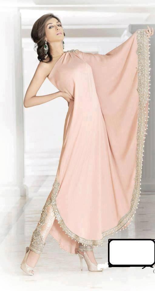 Soma Sengupta Indian Fashion- Icy Pink Simplicity! | vestidos de la ...