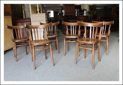 Sedie Deco ~ Gruppo n sedie da bistroit epoca decò seggiole thonet