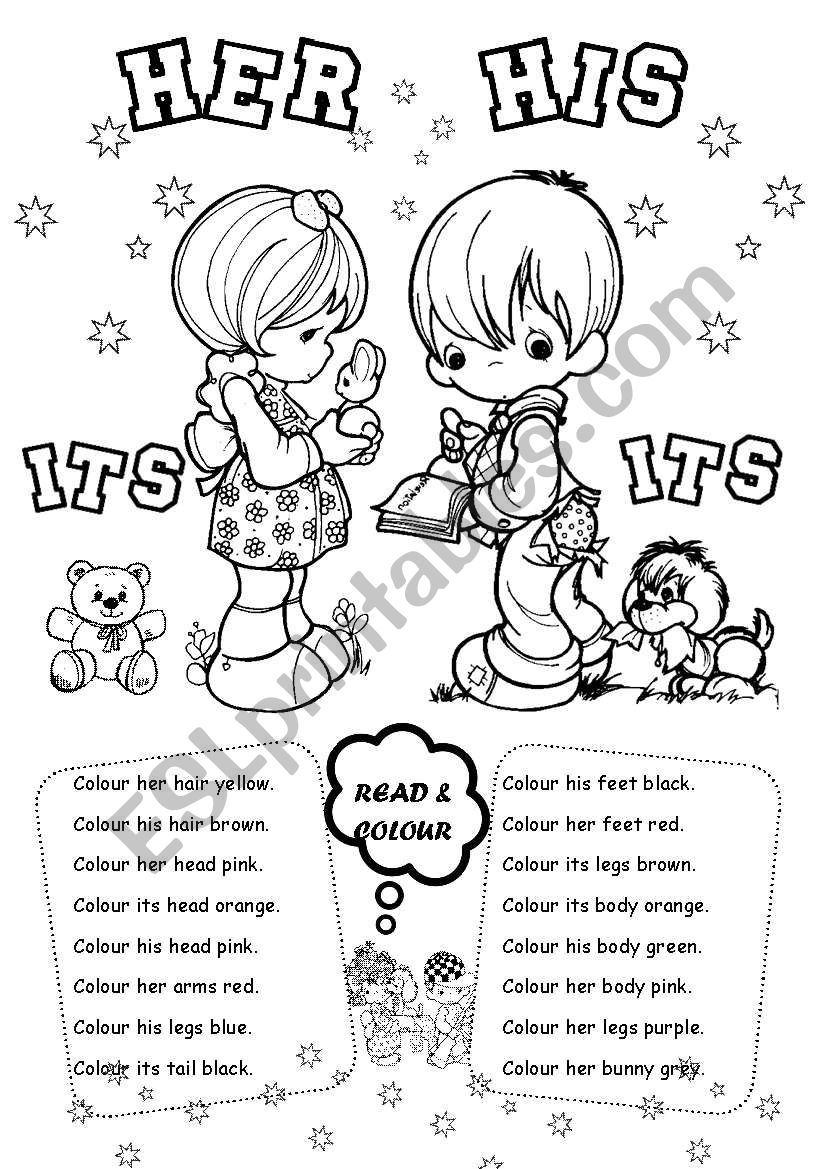 His Her Its worksheet | English | Pinterest