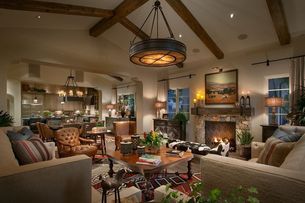 This Living Room Is Set Within A Large Open Concept Living Space That Also  Includes The