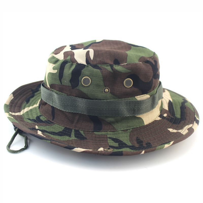 924adbfad Green Camo Adjustable Bucket Boonie Hat Sun Caps | Bonnie Hat di 2019
