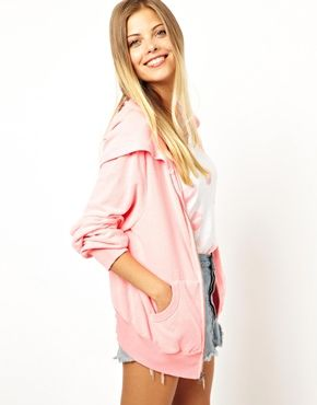 wildfox light pink hoodie