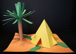 Abraham and Sarahu0027s Tent Craft & Abraham and Sarahu0027s four-door tent made from construction paper ...