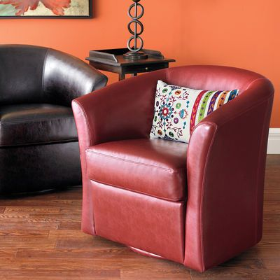 Isaac Red Swivel Chair For The Home ☎ Chair Swivel