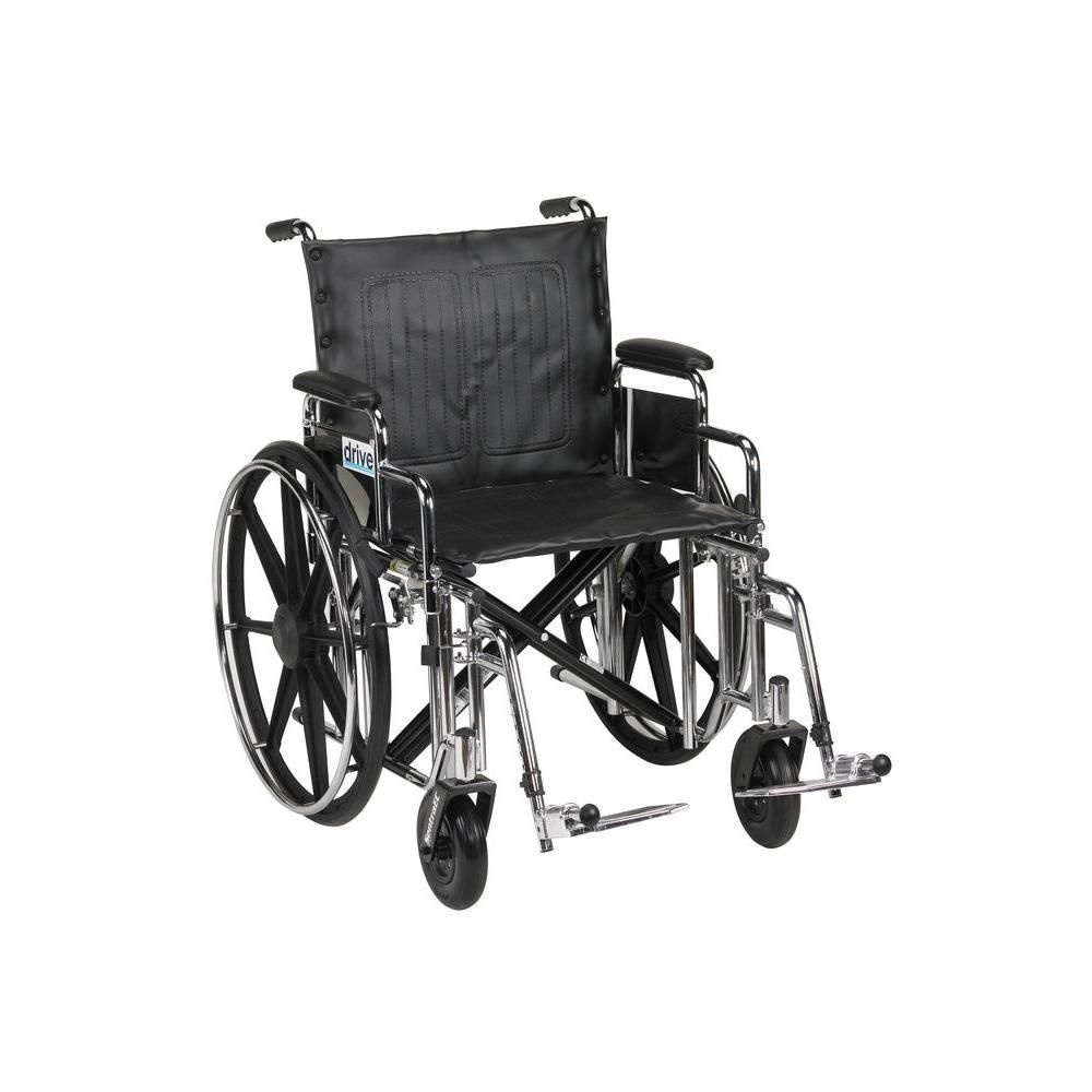 Drive Sentra Extra Heavy Duty Wheelchair With Detachable Desk Arms And Swing Away Footrest In 2020 Wheelchair Wheelchair Sizes Heavy Duty