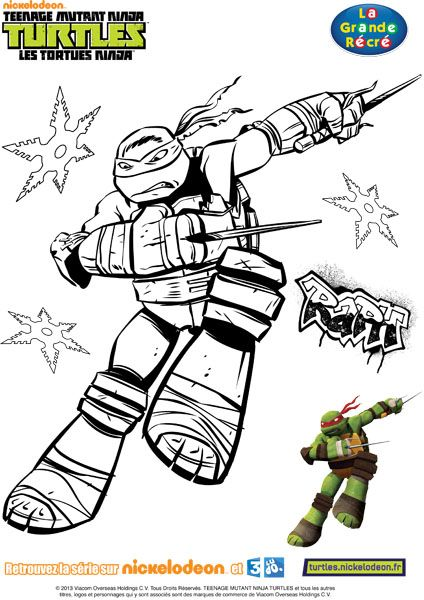 Coloriage Tortue Ninja