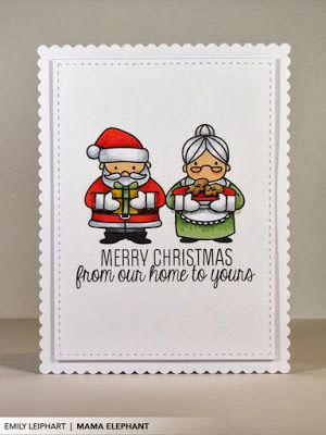 Art♥from♥the♥Heart: {Mama Elephant} Stamp Highlight: Cozy Christmas + Video!