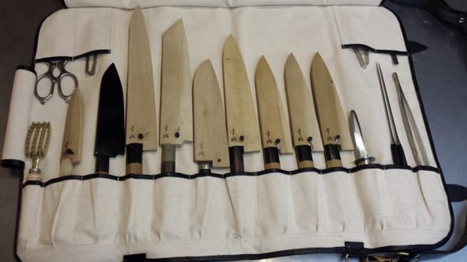 tosho knife roll canvas leather hardware 135 cases knife rolls pinterest knives. Black Bedroom Furniture Sets. Home Design Ideas