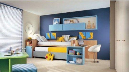 Cameretta Arancione E Blu : Dearkids è una società italiana che produce camerette per bambini