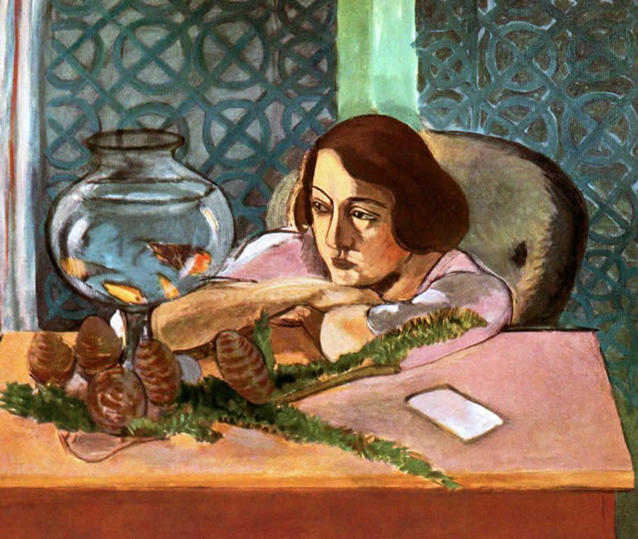 Henri Matisse, Femme et poissons rouges, 1921