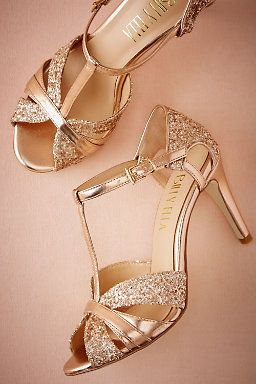 The Color Is Rose Gold Bhldn Lucia T Straps In Shoes Accessories View All