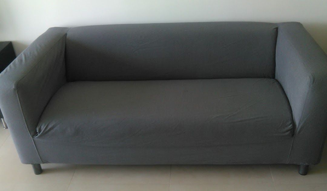Ikea Klippan 2 Seater Grey Sofa Furniture Sofas On Carousell