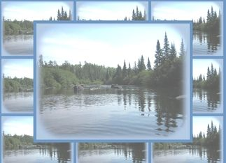 Birthday - lake view Greeting Card