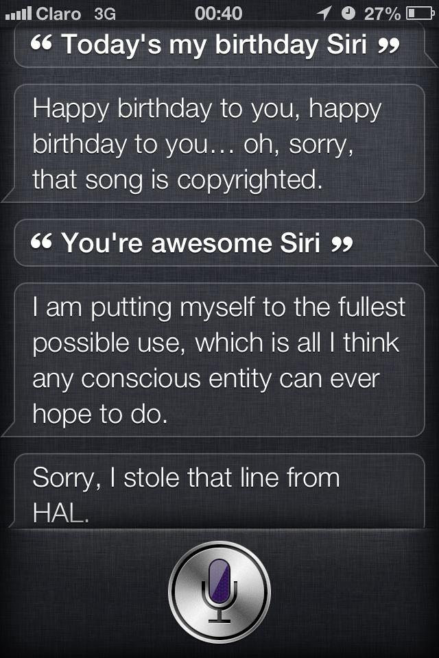 Siri wishing me Happy Birthday!!