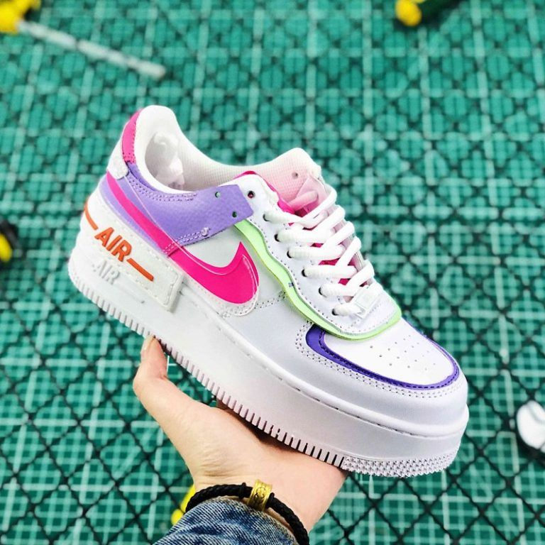 Ladies Nike Air Force 1 Low Shadow White Pink Purple New Sale-5 ...