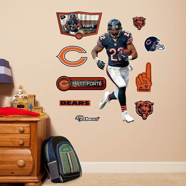 Fathead Chicago Bears Matt Forte Jr Wall Graphic   Wall Sticker Outlet Part 40