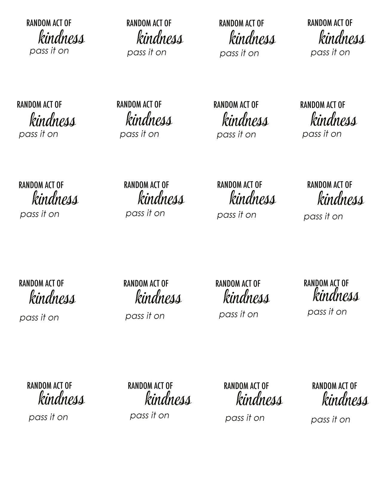 Chic Challenge Random Acts Of Kindness