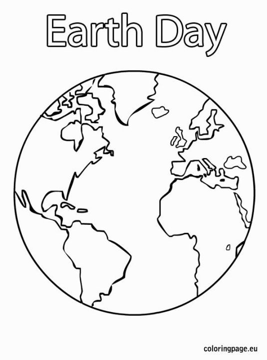 Large Earth Coloring Page- great for Earth Day crafts | Preschool ...