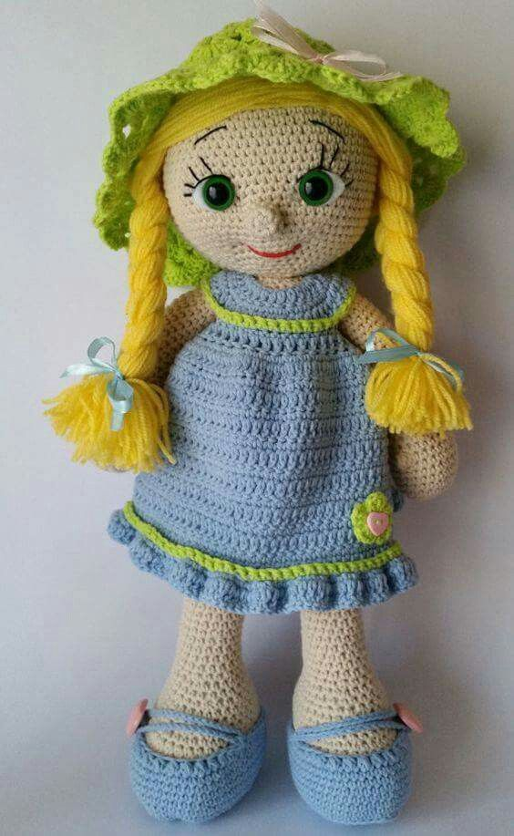 Pin de Mandy Nelson en Crochet | Pinterest | Muñecas, Patrones ...