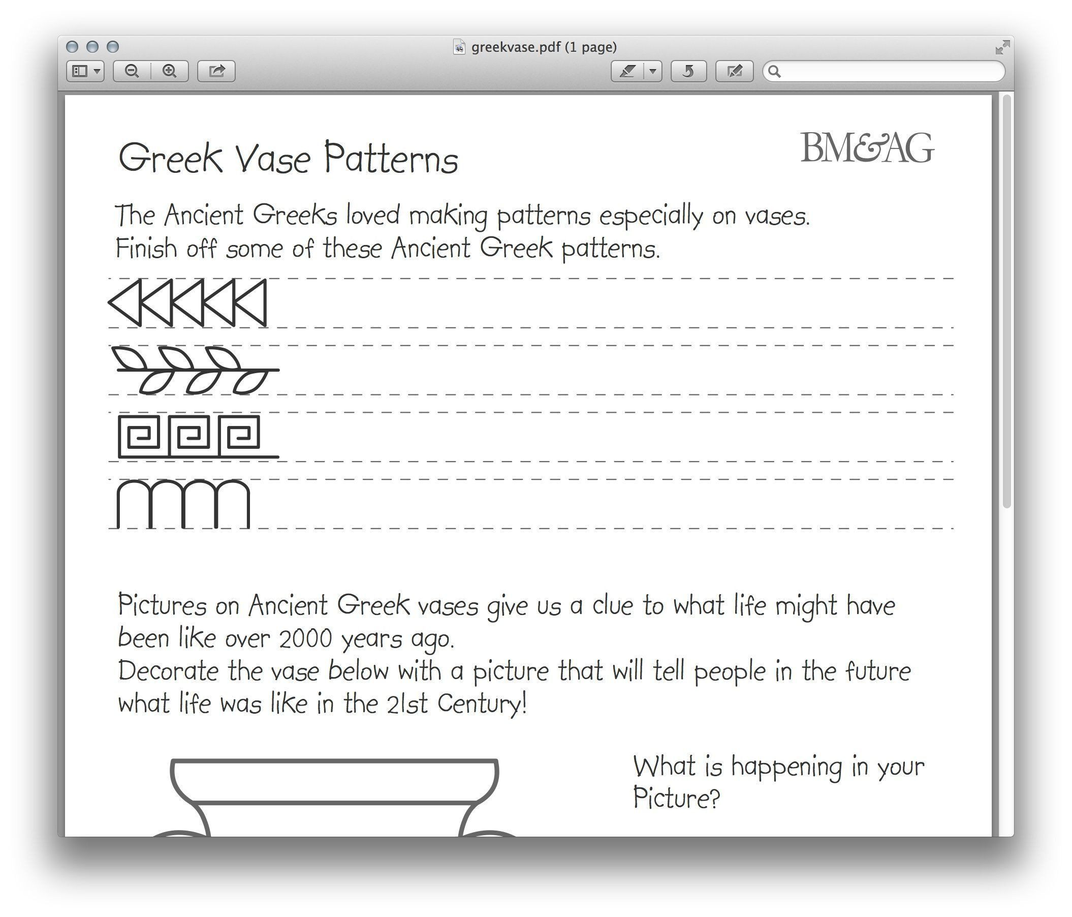 Ancient Greece Geography Worksheet Greek Pottery And