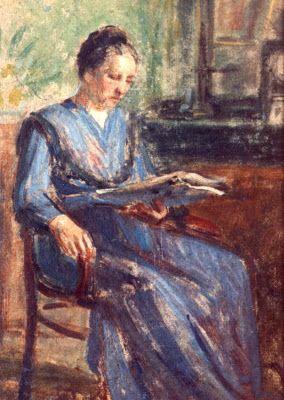 Delobre, Emile (1873-1956) Portrait of mother