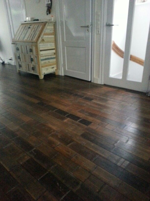 Bamboo floor, love the dark with different shades