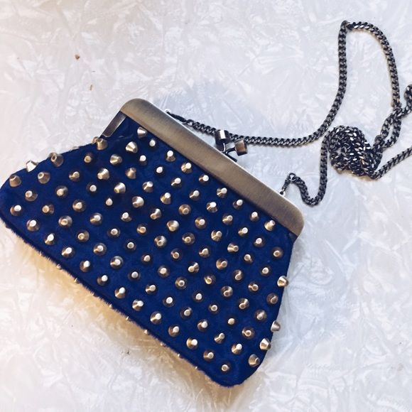 NWOT House of Harlow bag Amazing pony hair, studded House of Harlow 1960 bag. It can be worn cross body, or as a clutch. NWOT. Purple/electric blue color. Perfect condition. Make an offer :) boho, free people, anthropologie House of Harlow 1960 Bags Crossbody Bags