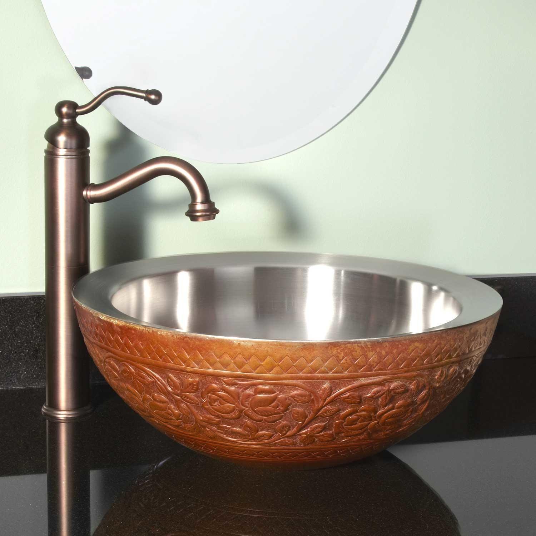Garden Double Wall Copper Vessel Sink