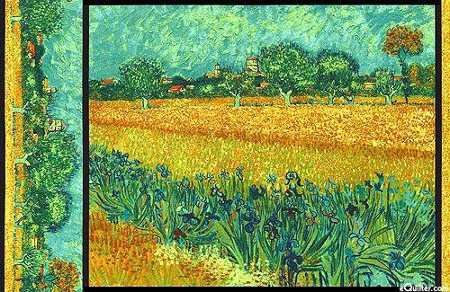 Vincent Van Gogh Field With Irises 24 Quot X 44 Quot Panel