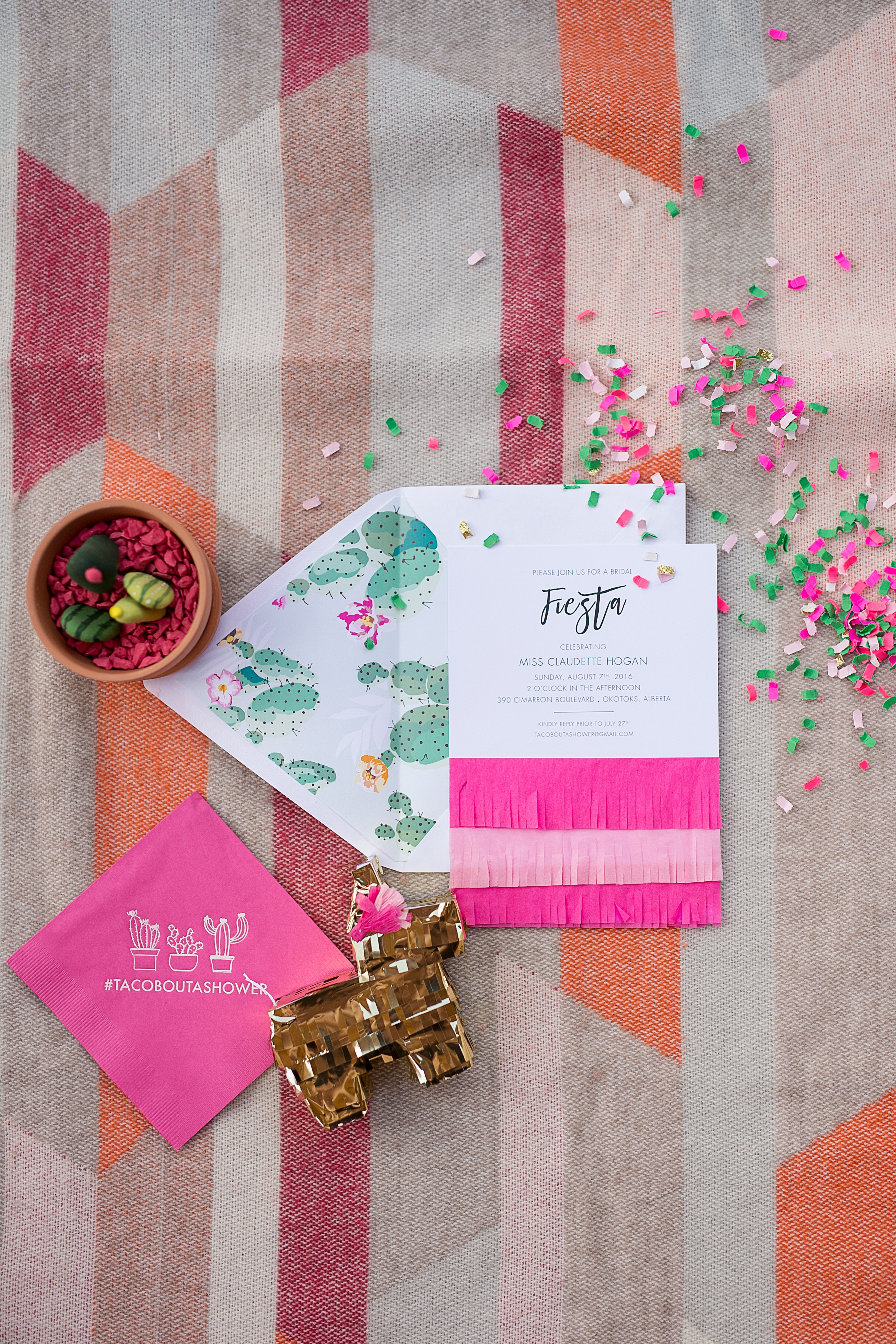 A Pink and Gold Fiesta Bridal Shower | Bridal showers, Fiestas and ...