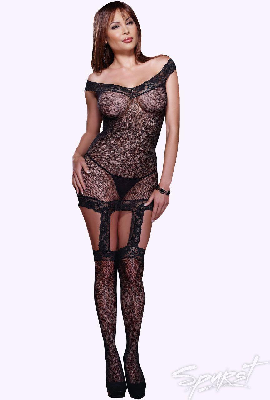 119945c5b Kenya Fishnet Garter Dress - Plus