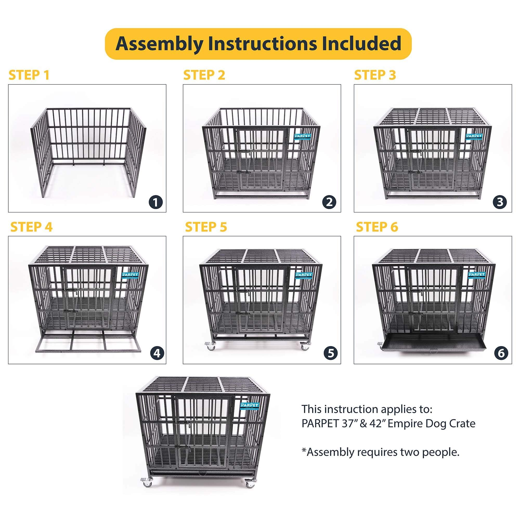 Parpet 37 Inch Empire Heavy Duty Dog Crate With Wheels Steel Tray For Medium Dogs Hammertone Read More Reviews Of The Heavy Duty Dog Crate Dog Crate Medium Dogs