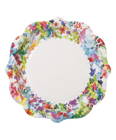 Bring a smile to your table with our vibrant floral Paper Plates ~ Floral Fiesta. A great option for a Mexican fiesta or bright florals party.  sc 1 st  Pinterest & Love this Floral Party Plate - Set of 24 on #zulily! #zulilyfinds ...