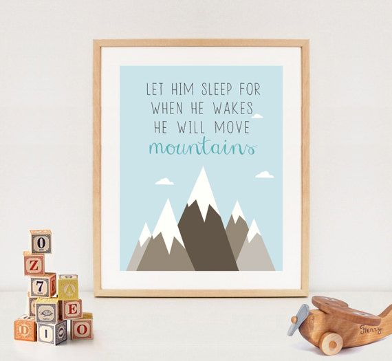 8970e6bfb2575 LET HIM SLEEP printable quote - baby boy nursery wall art - blue ...