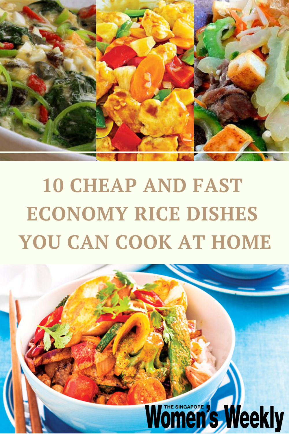 10 Cheap And Fast Economy Rice Dishes You Can Cook At Home In 2020 Cooking Food Dishes Asian Recipes