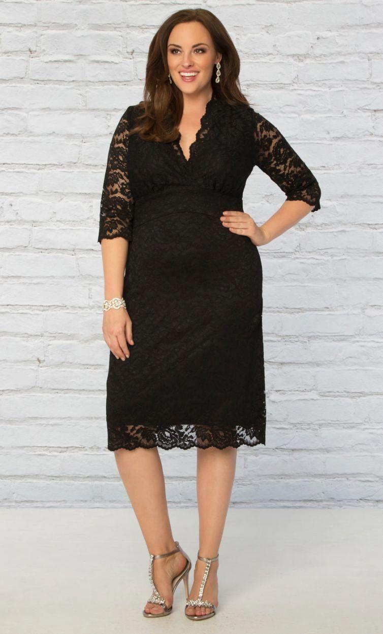 869dc3b021fd9 18 Plus Size Black Dresses with Sleeves - Plus Size LBD - Plus Size Fashion  - alexawebb.com  fancyplussizedresses