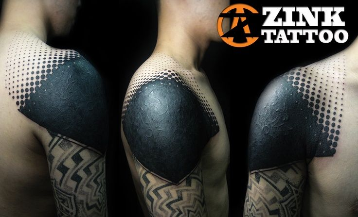 Solid black geometric tattoo google search tattoo for Solid black tattoo cover up