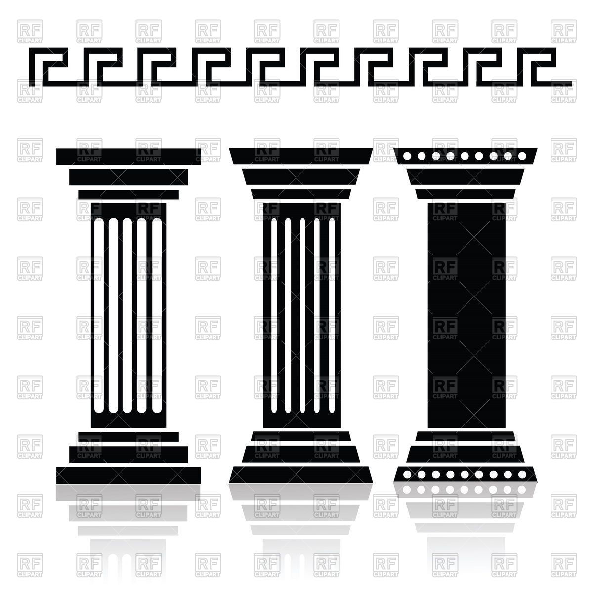 greek column vector silhouette google search types of