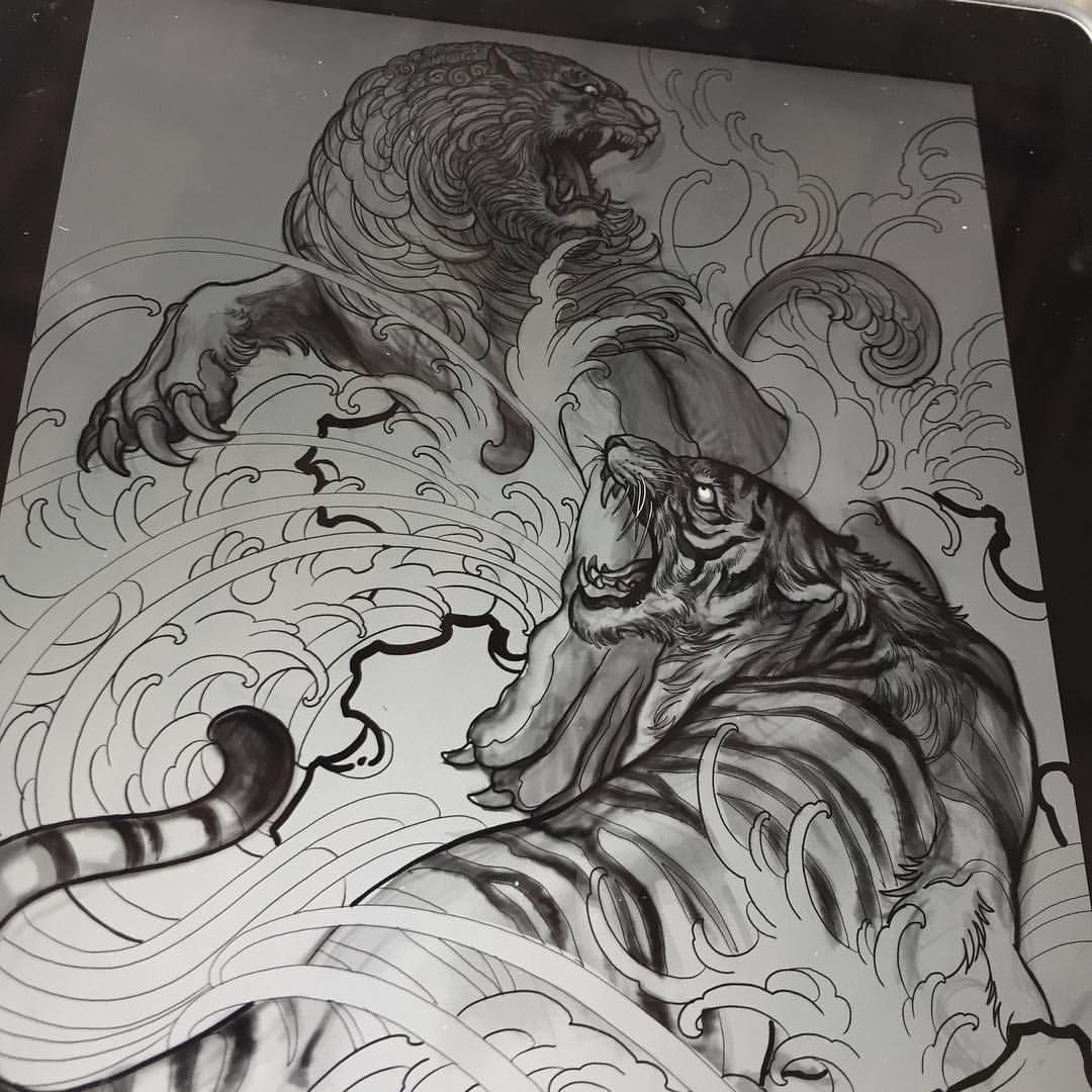 Sketch For A Japanese Sleeve: Pin By The Tattoo Concept On Tiger Tattoo