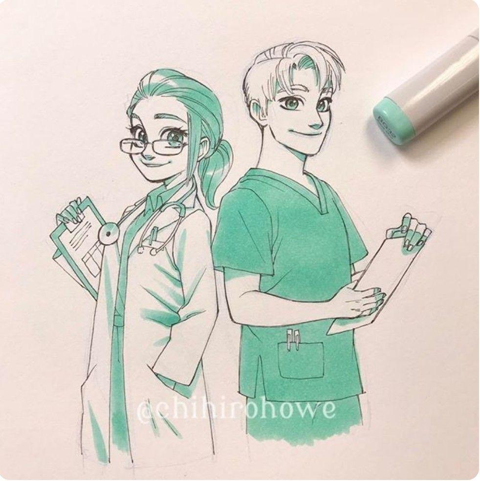 Amo Este Dibujo De Doctores Dibujos De Doctoras Enfermero Dibujo Medico Dibujo