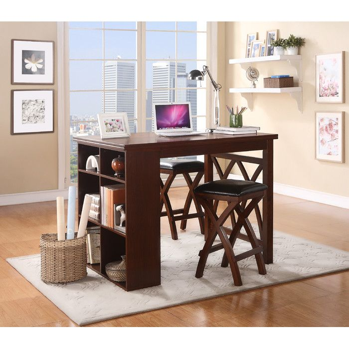 Woodhaven Hill Mably 3 Piece Counter Height Dining Set U0026 Reviews | Wayfair