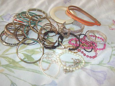 Big job lot #bundle 50+ costume jewellery #bangles #bracelets, dressing up ...,  View more on the LINK: http://www.zeppy.io/product/gb/2/311661056391/
