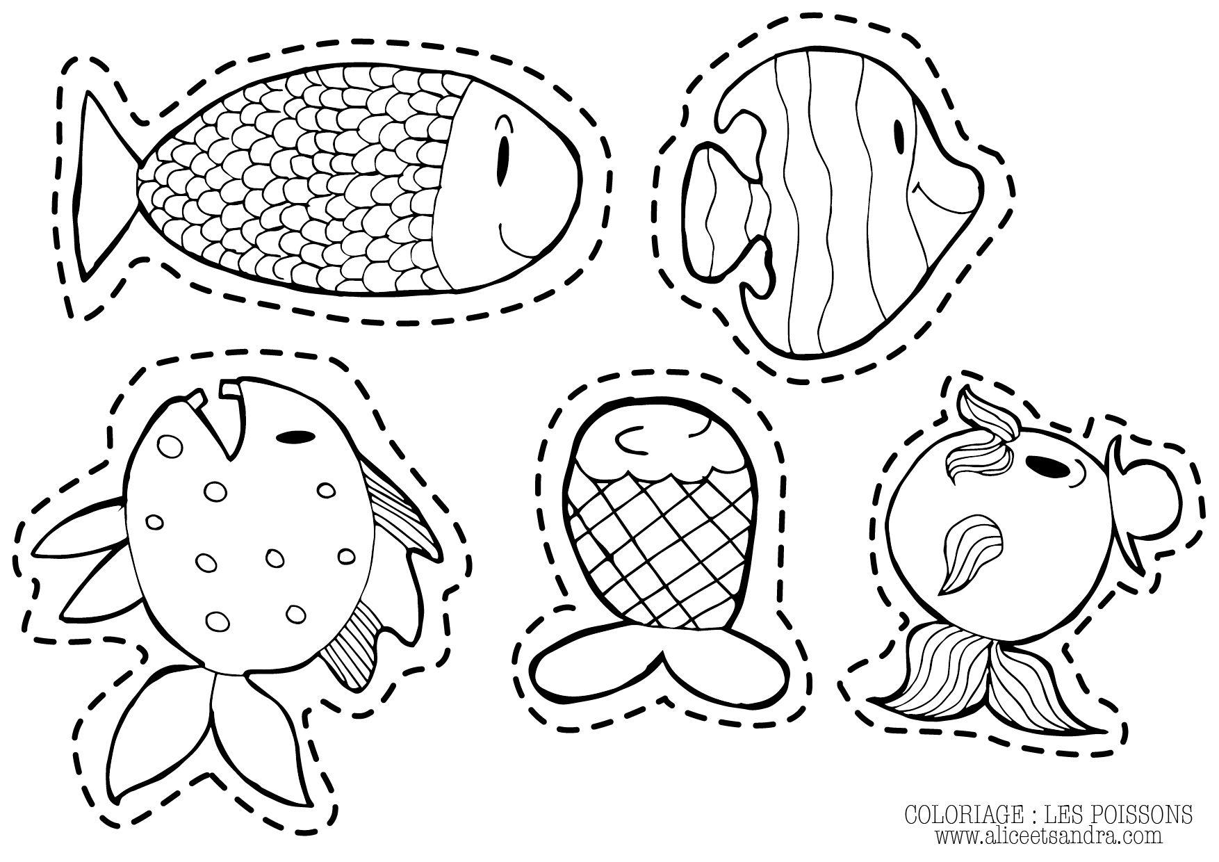 Exceptional dessin a decouper et a imprimer coloriage poisson kids rugs movies online et decor - Coloriage a decouper ...