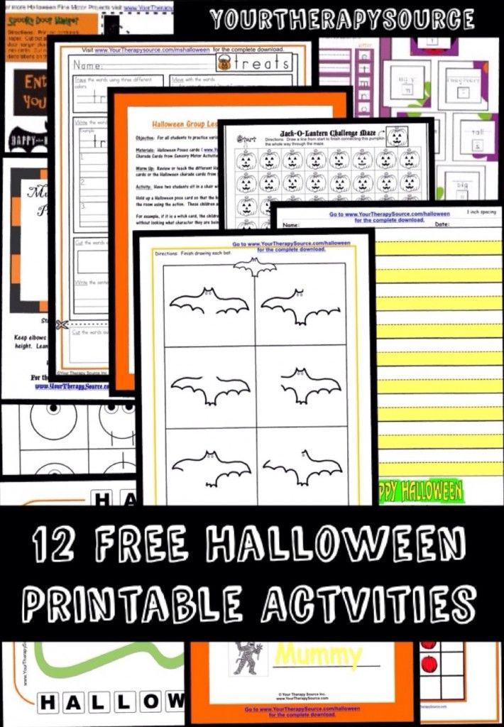 12 printable halloween freebies pediatric school based ot pt blog posts halloween worksheets. Black Bedroom Furniture Sets. Home Design Ideas