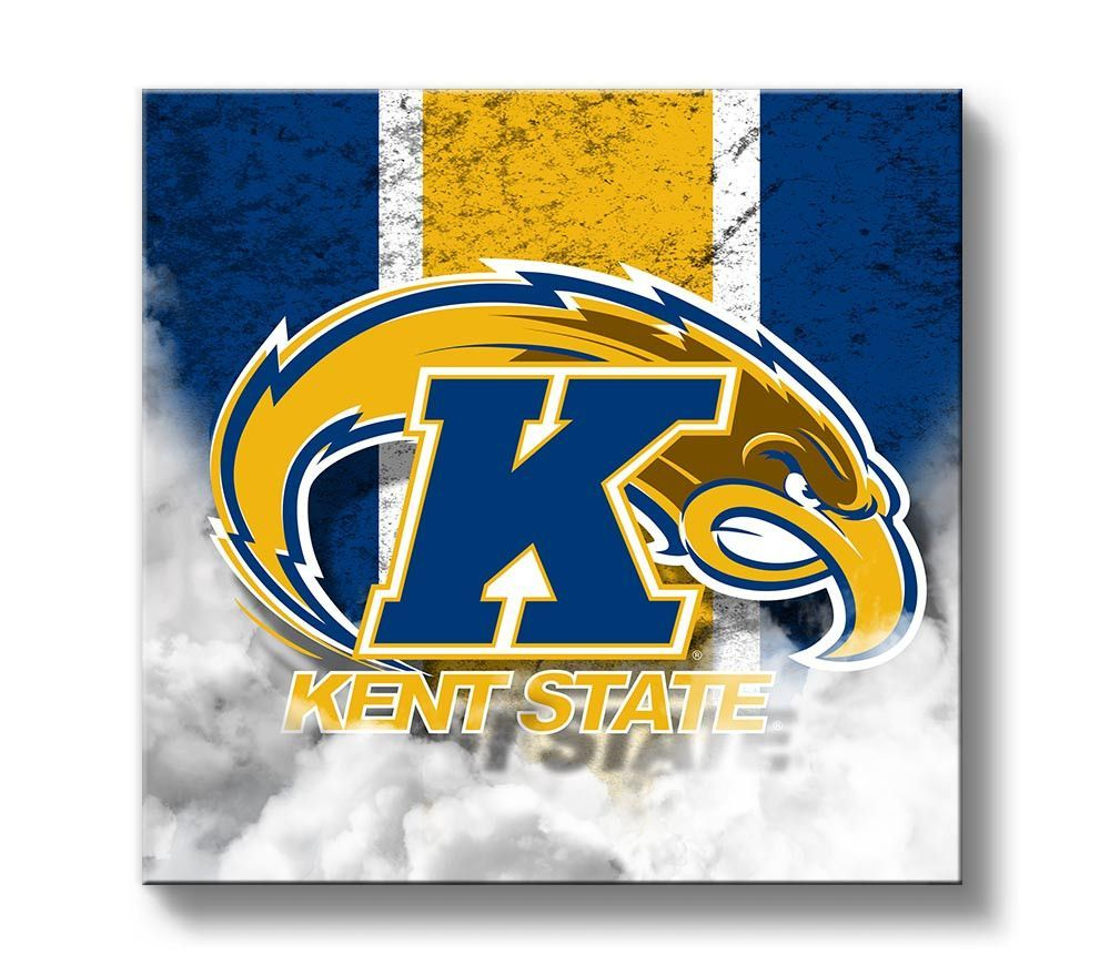 Kent State Golden Flashes Vintage Canvas Print Square