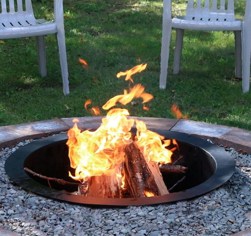 Details About 30 Inch Heavy Duty Fire Pit Ring Liner Diy Fire Pit Above Or In Ground In Ground Fire Pit Fire Pit Steel Fire Pit
