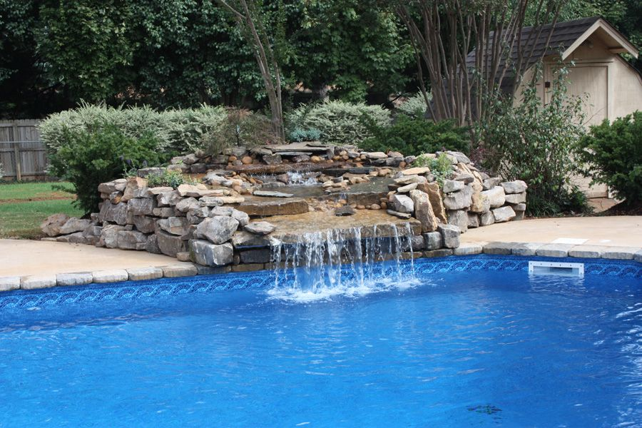 Pin By Margaret Kerrison On Pools Swimming Pool Waterfall Pool Waterfall Pool Landscaping