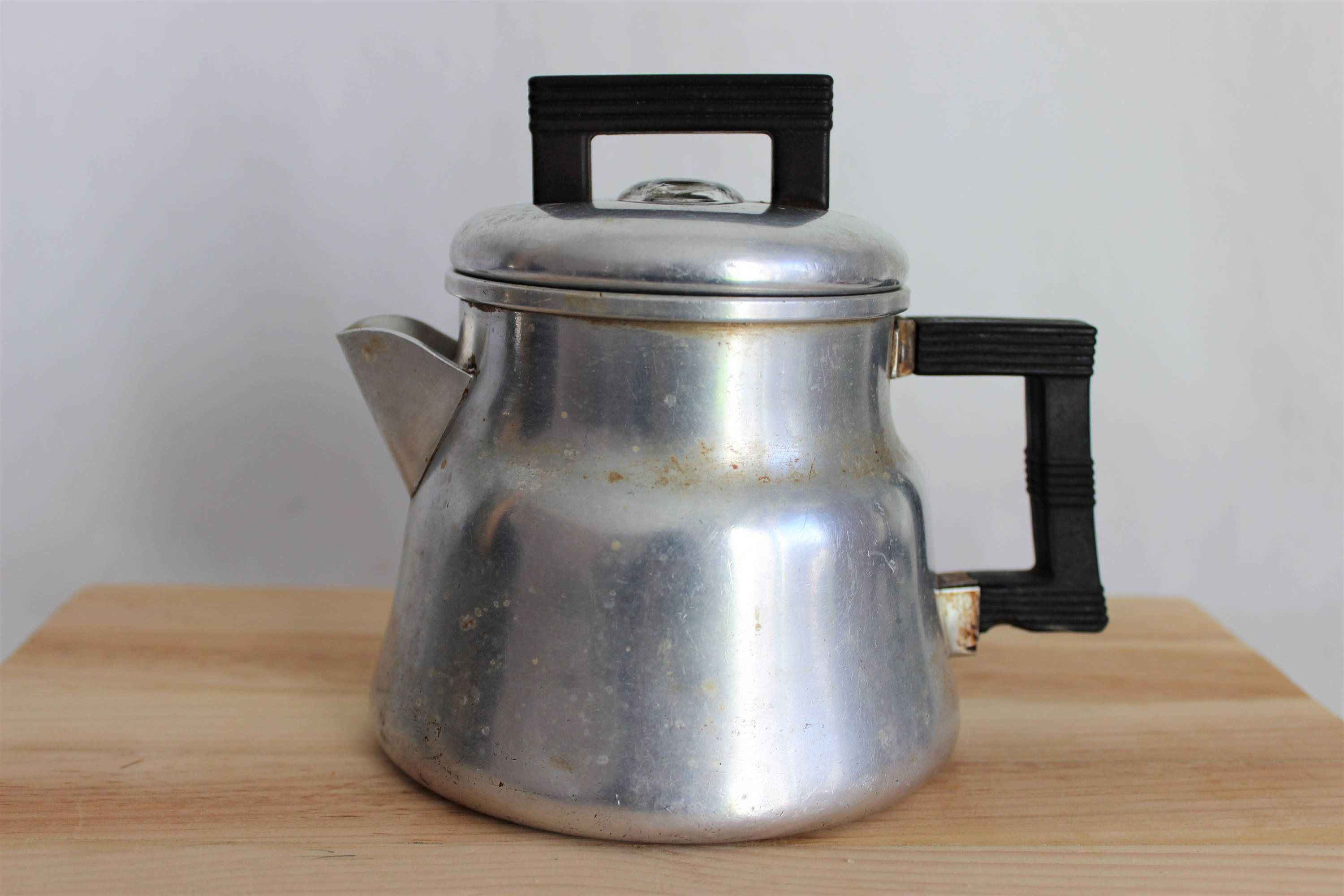 Vintage Wear Ever Small Aluminum Percolator Coffee Pot No 3002 By