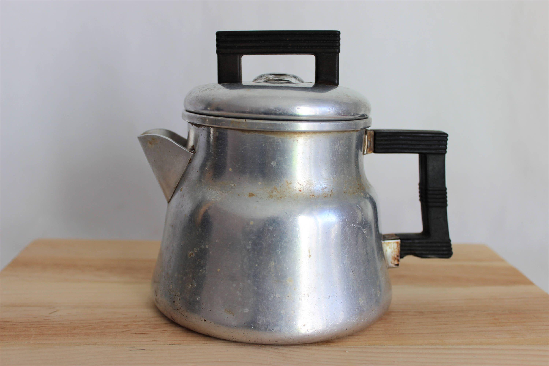 Vintage Wear Ever Small Aluminum Percolator Coffee Pot No 3002